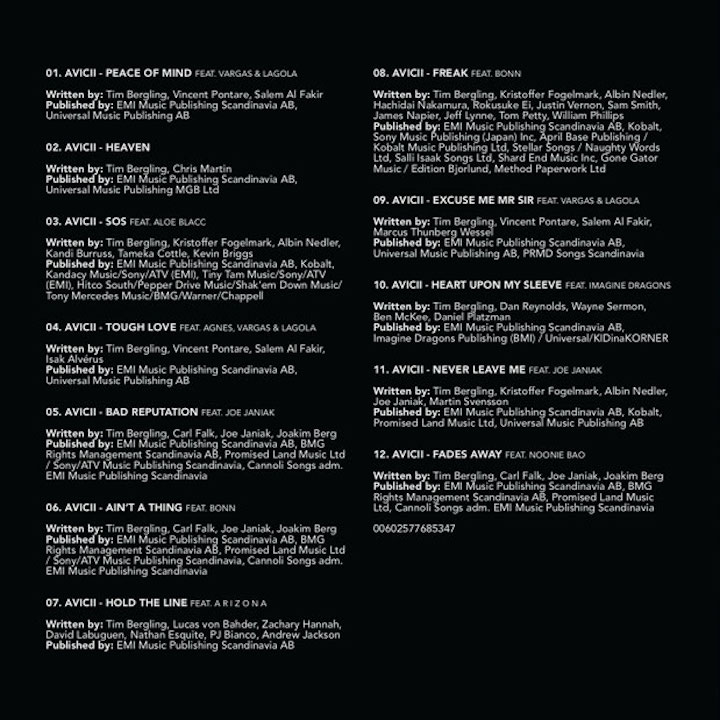 Avicii-TIM-tracklist-2019
