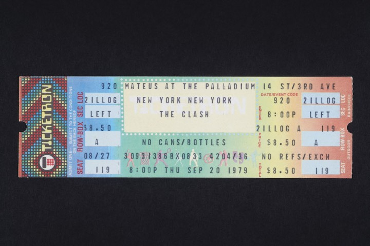 Clash Ticket from the 20th September 1979.